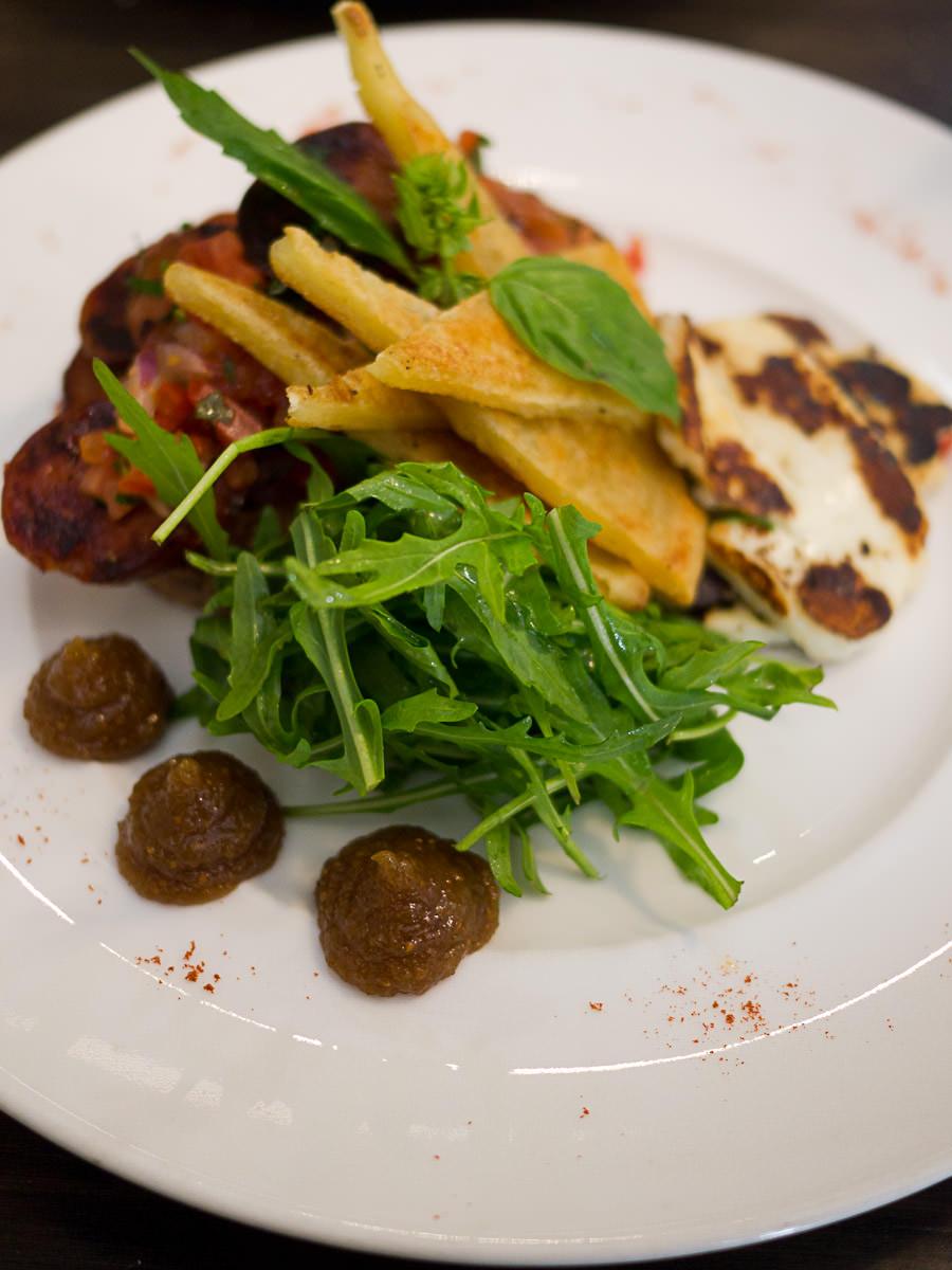 Chorizo bruschetta (AU$16)
