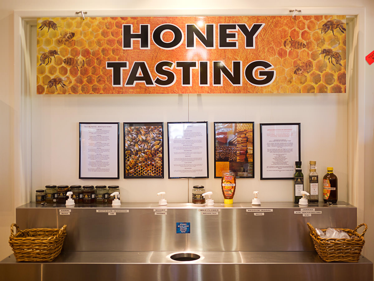 Honey tasting station