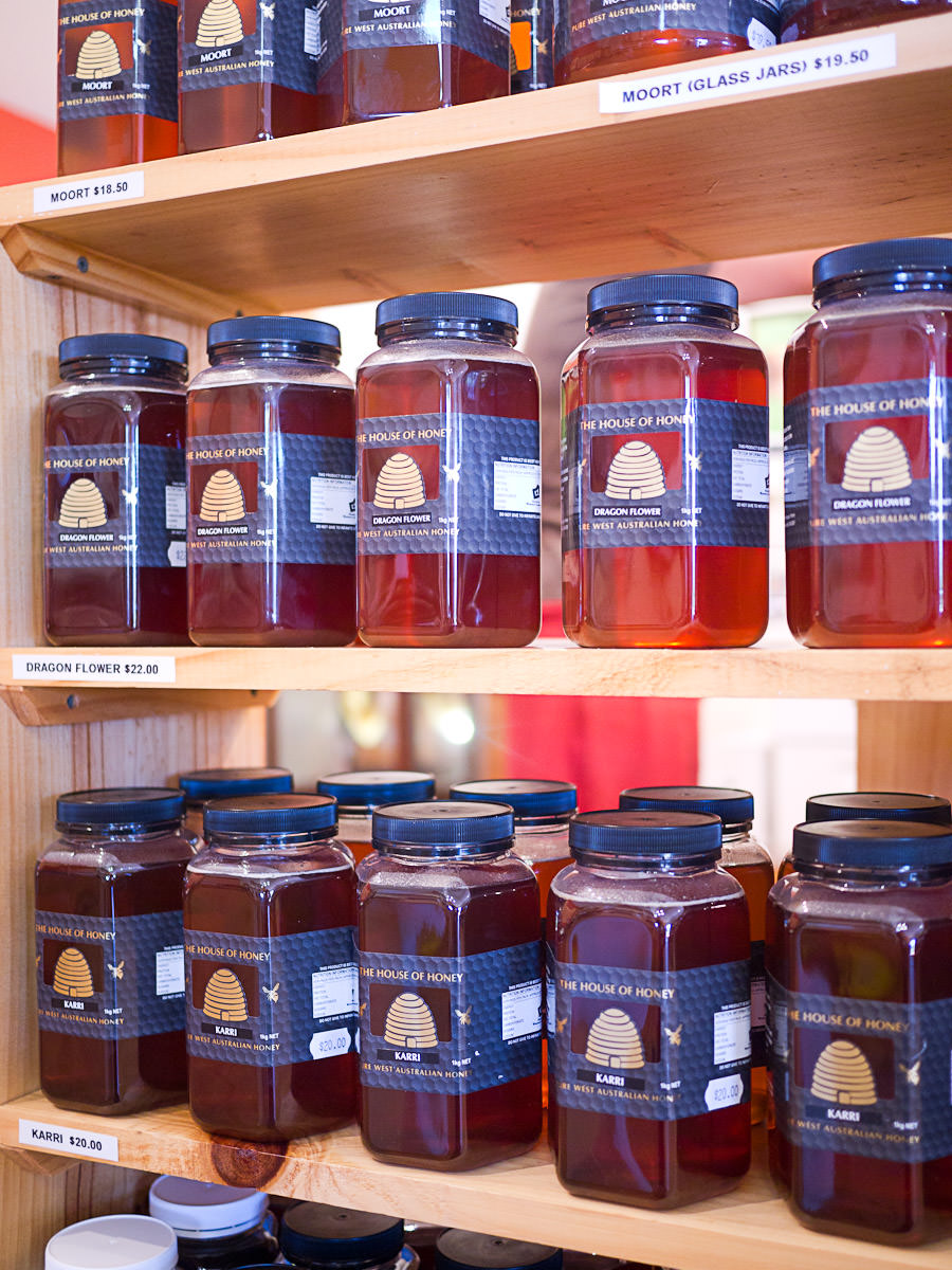 Jars of honey for sale. Smaller ones are available too