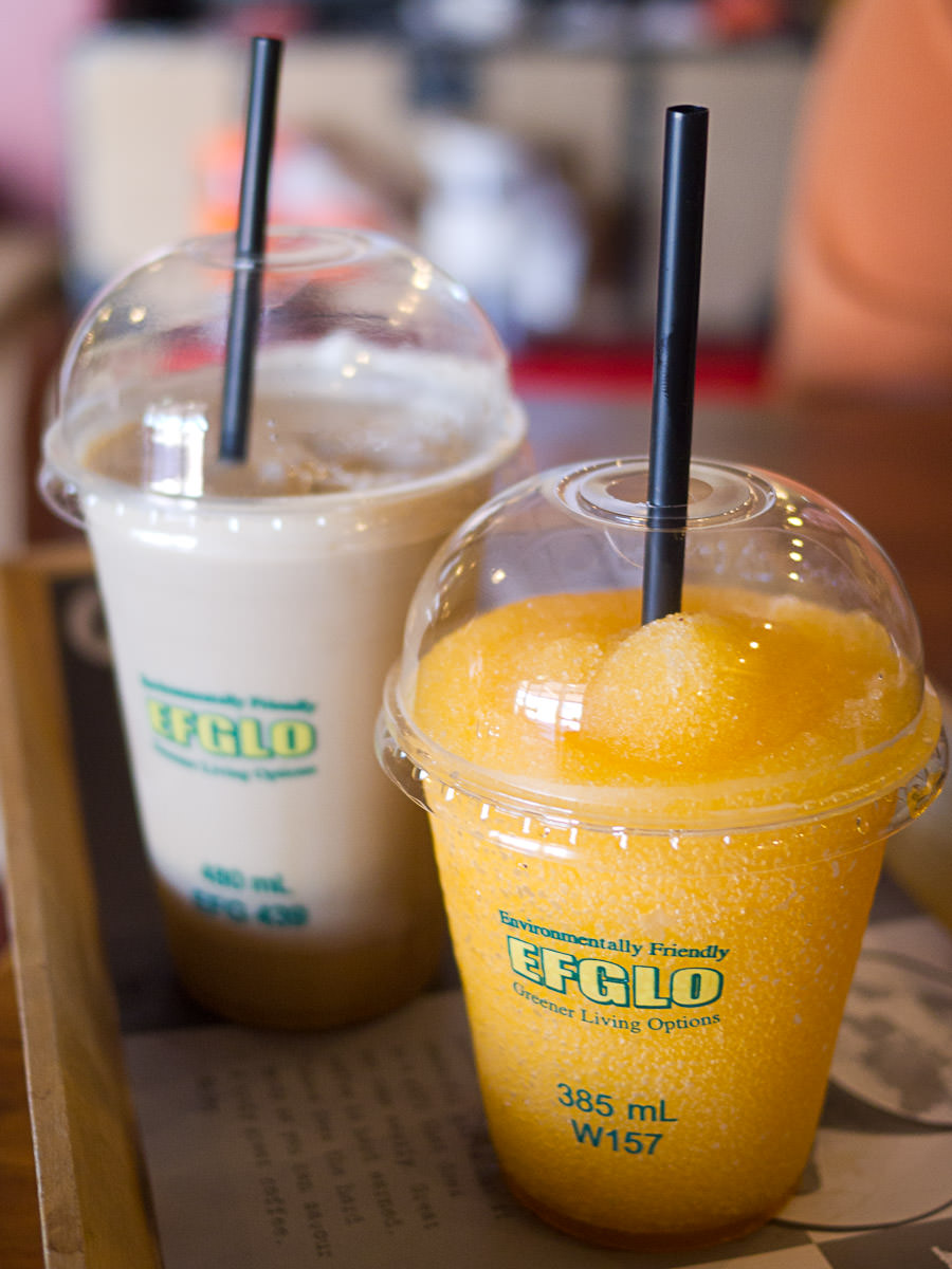 Iced coffee frappe and tropical frappe