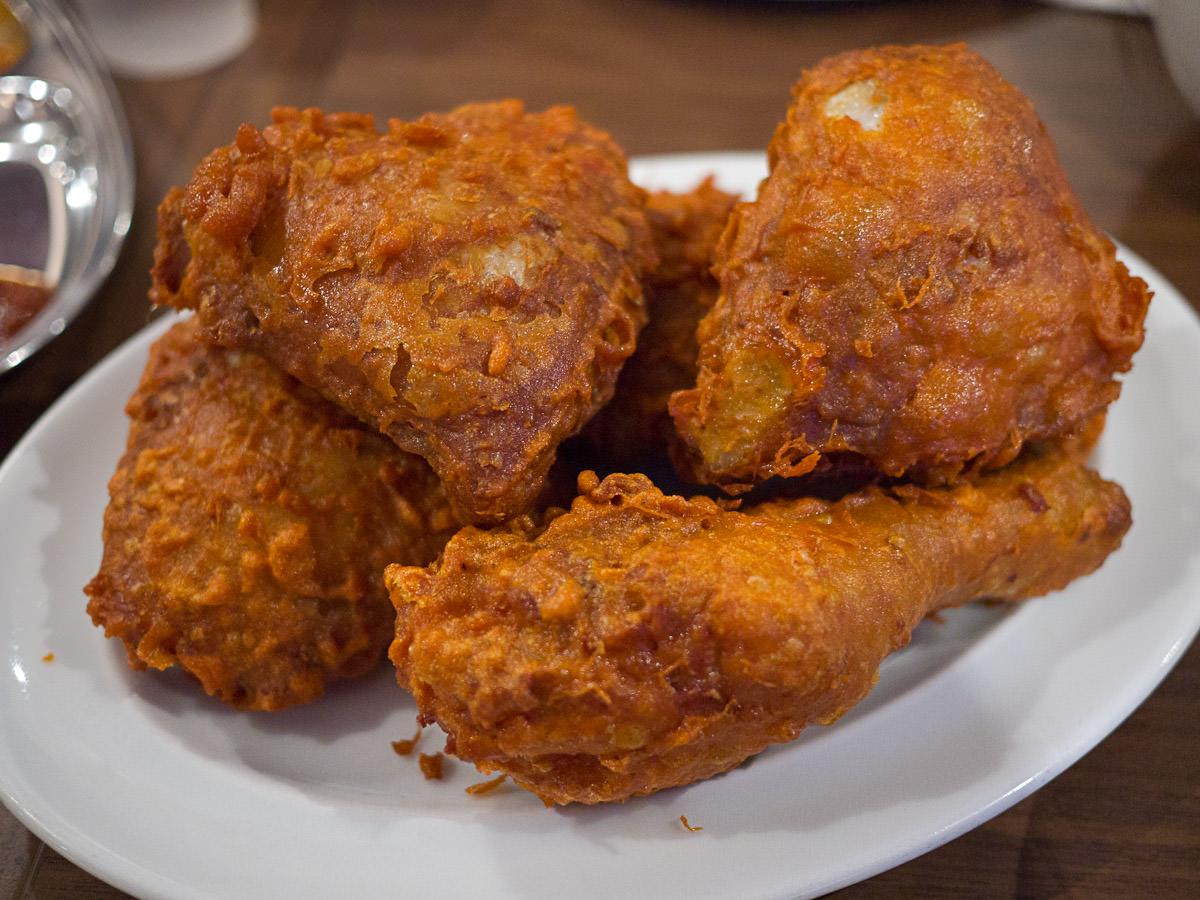 Ayam goreng ($14 for 4 pcs or R4 per piece_