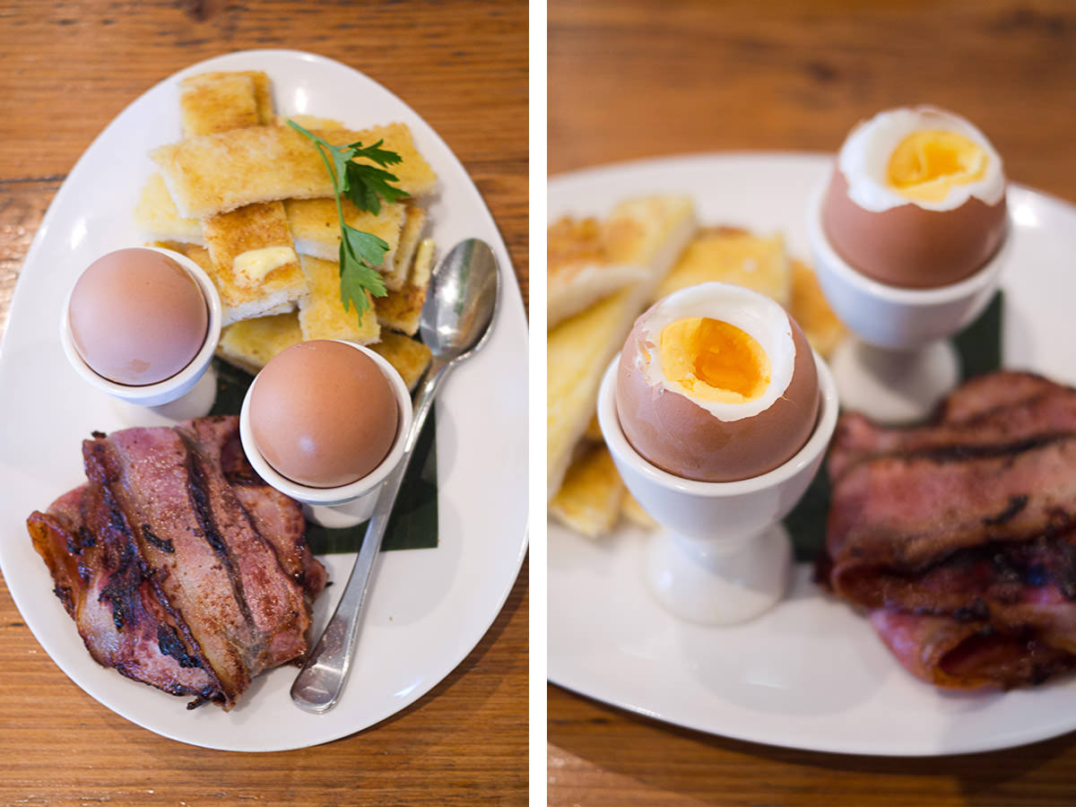 Soft boiled dippy eggs and hot buttered soldiers FAIL!