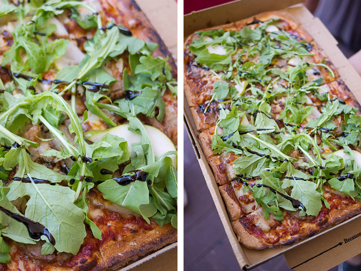 Five Spice Pork Belly pizza
