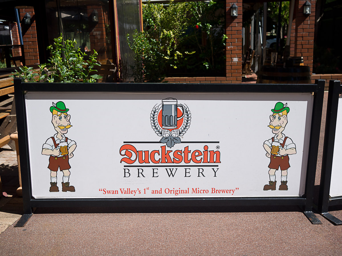 Duckstein Brewery - sign