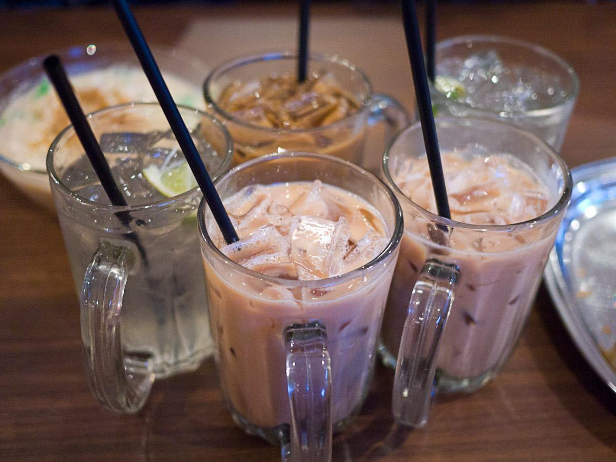 Milo ais, kopi tarik and limau ais