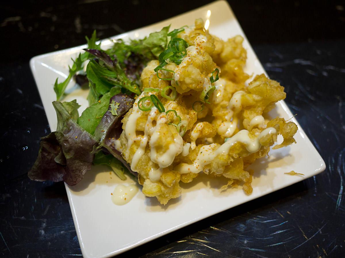 Sweet corn tempura (AU$9.50)