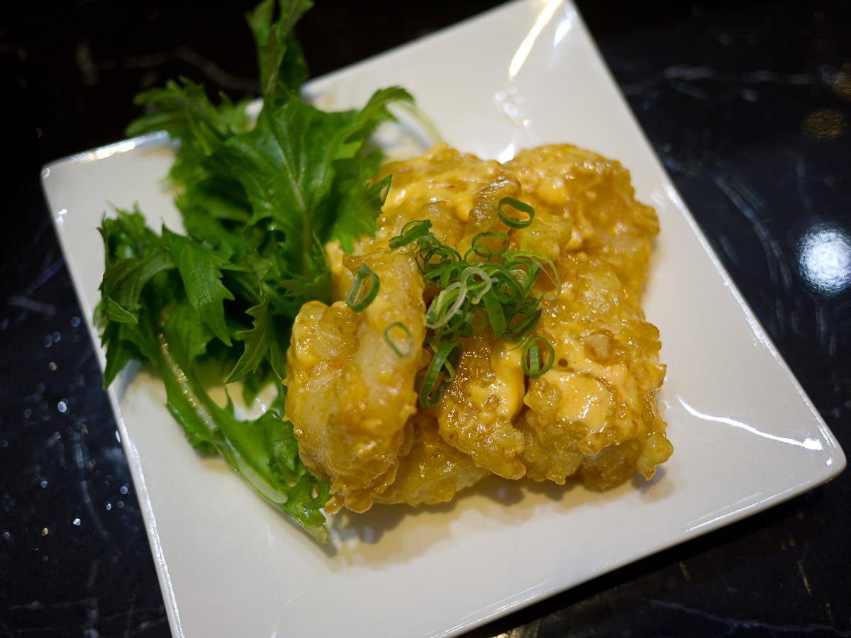 Creamy popcorn shrimp (AU$15.50)