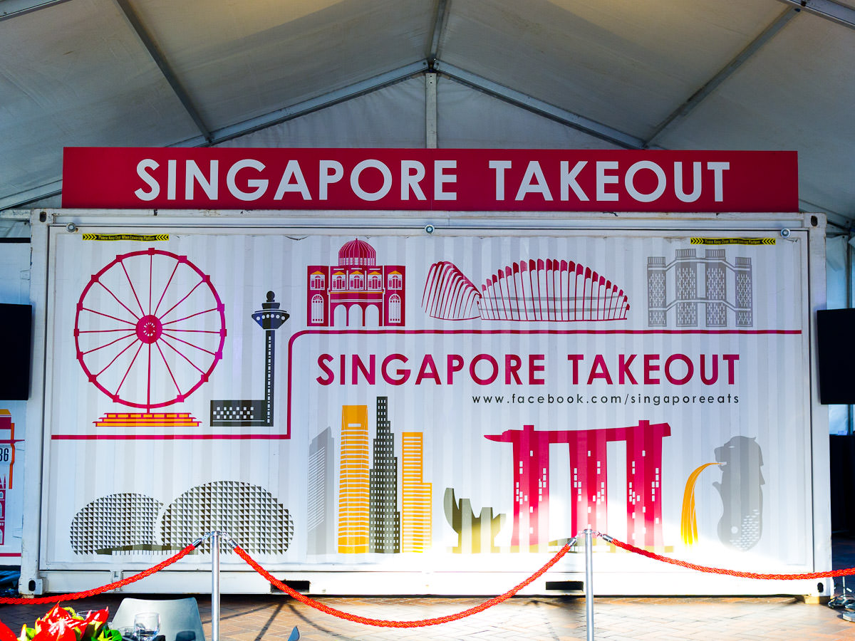 The Singapore Takeout sea container mobile kitchen