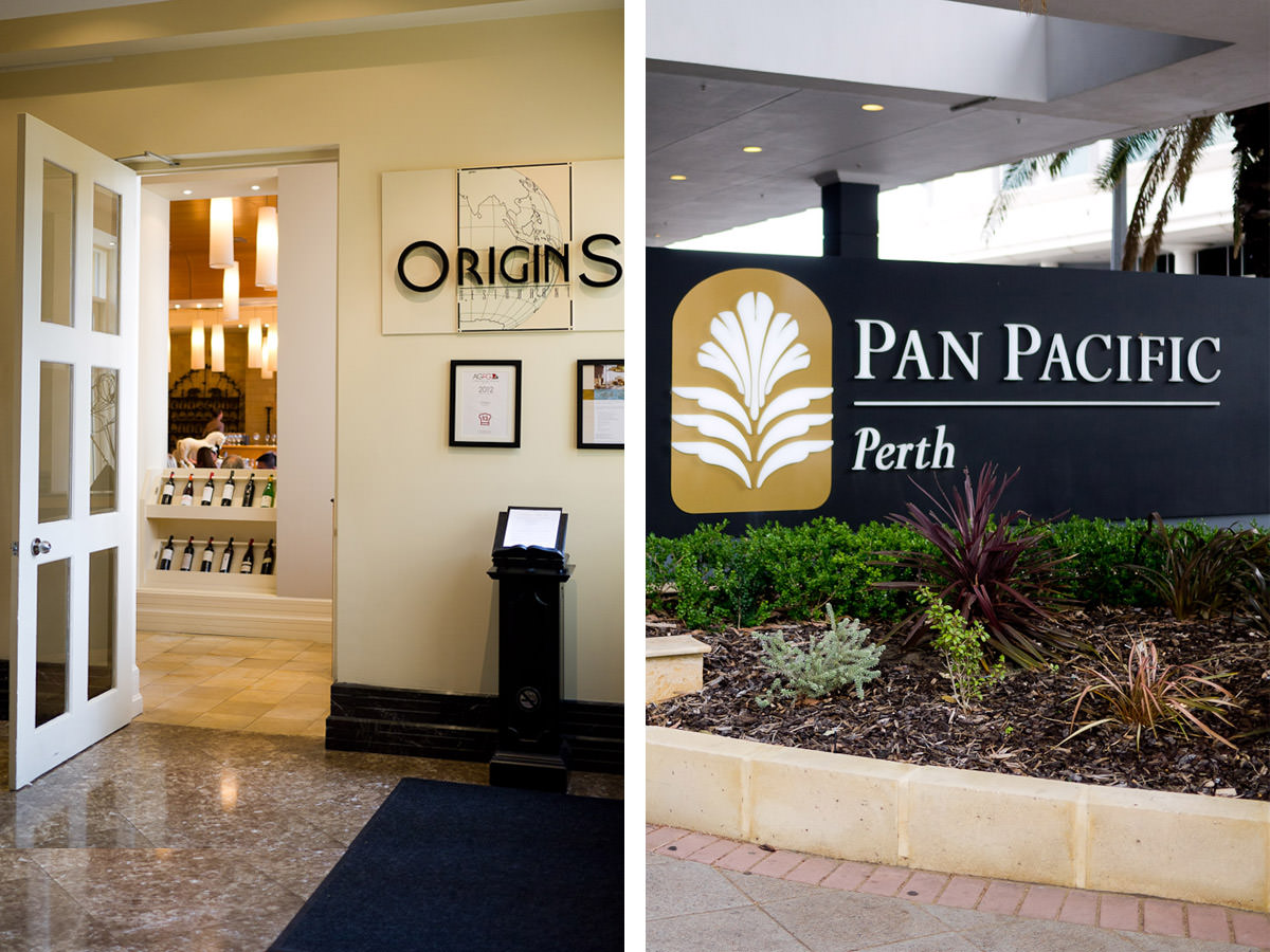 Origins Restaurant at the Pan Pacific Hotel, Perth