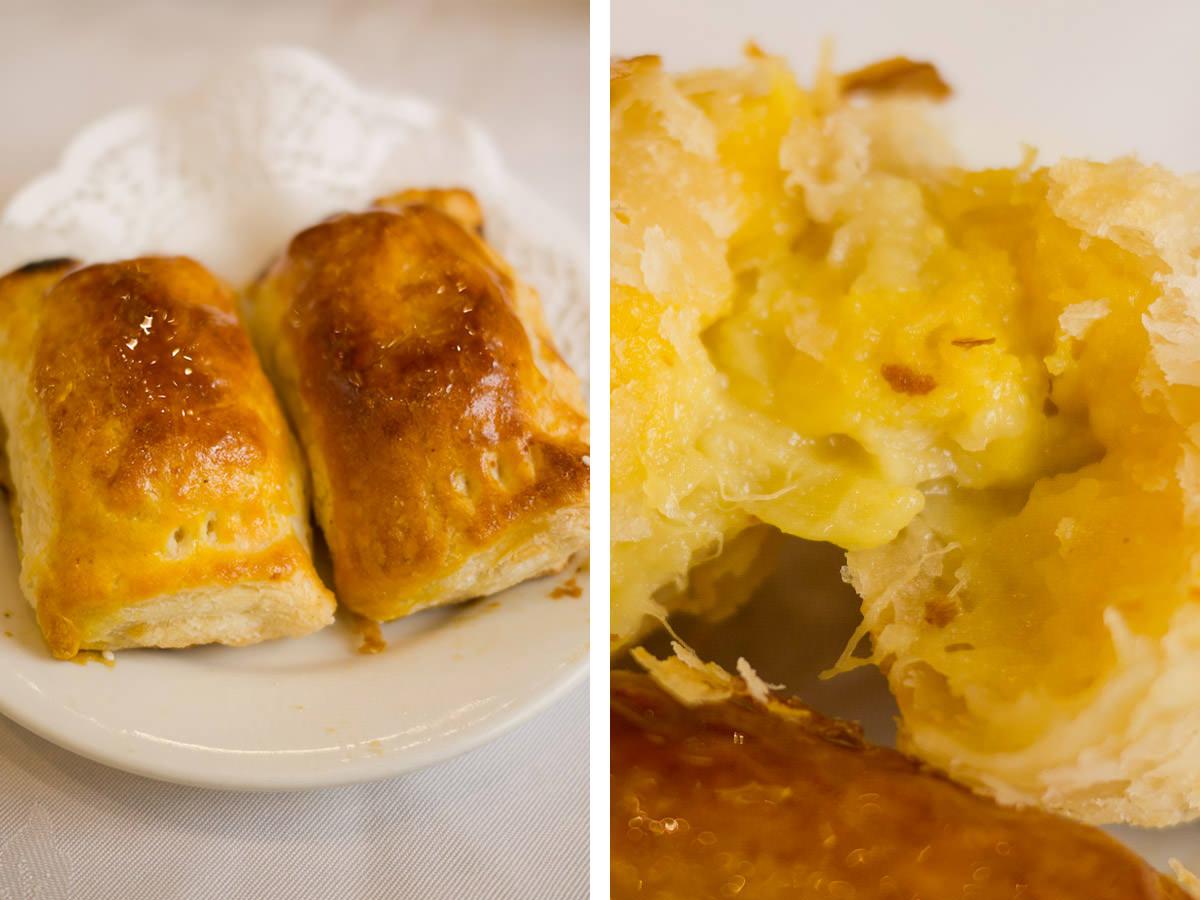 Durian puffs + innards