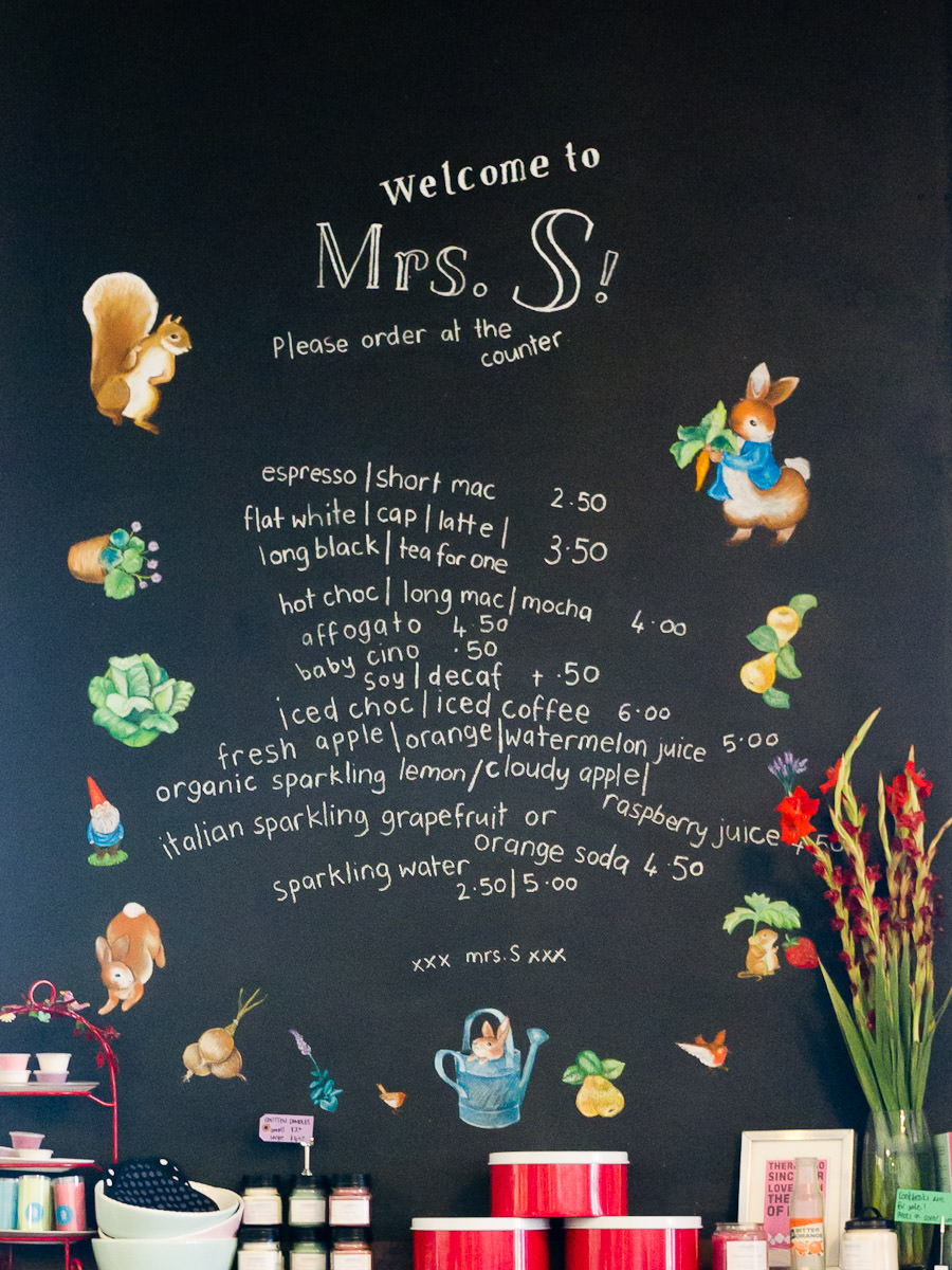 Drinks menu board