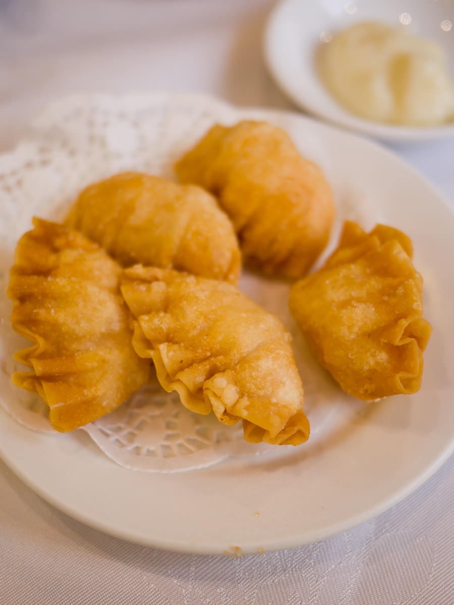 Deep-fried prawn dumplings