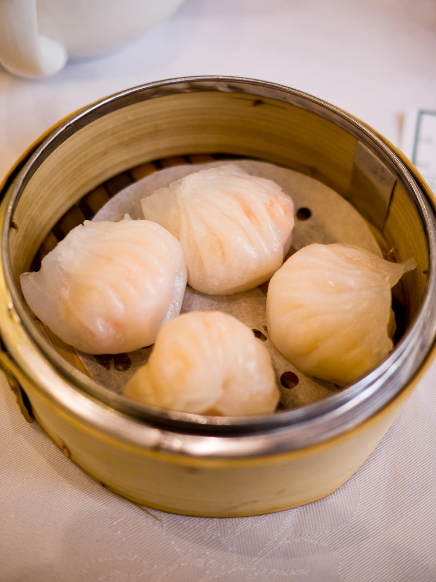 Har gow (steamed prawn dumplings)