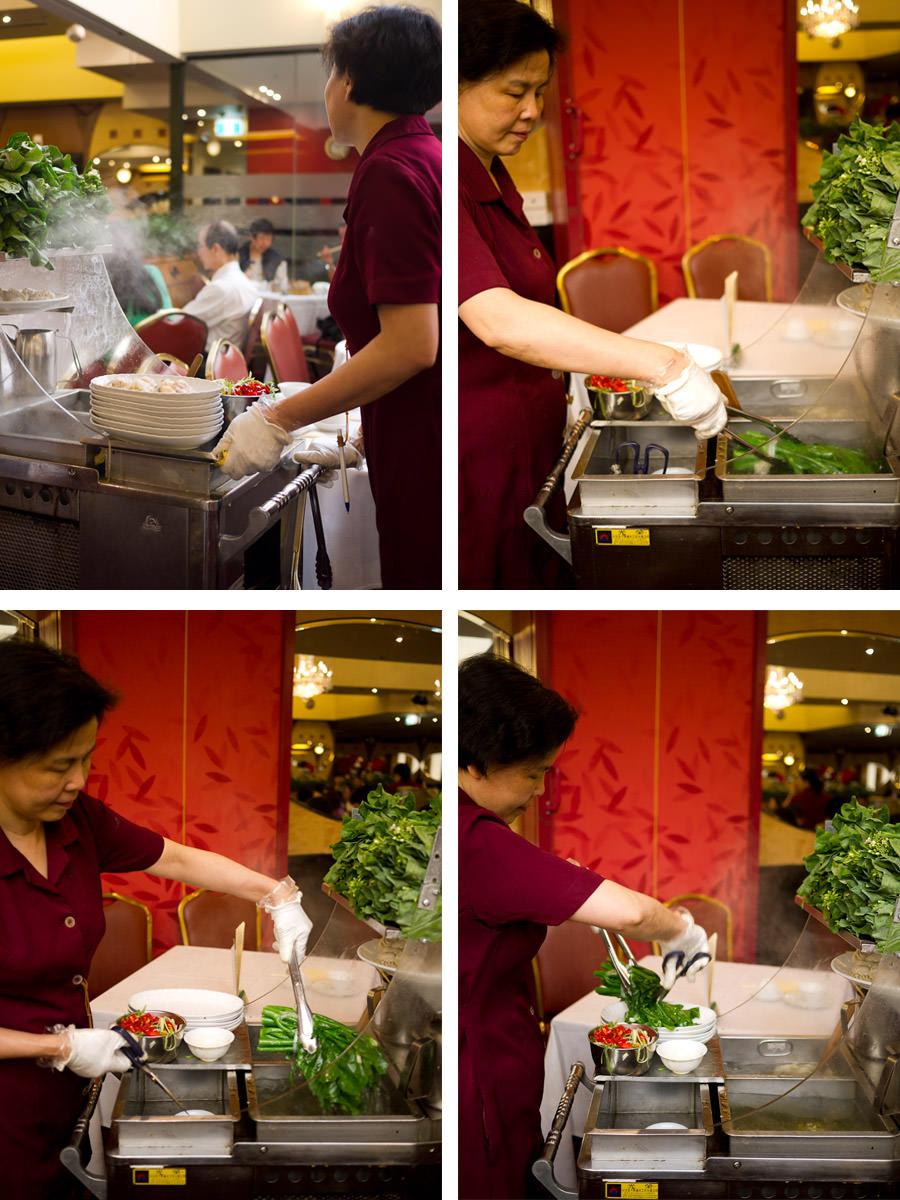 Kai lan (Chinese broccoli) trolley