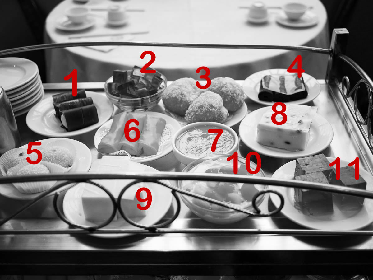 Can you name all the desserts? (B&W numbered version)