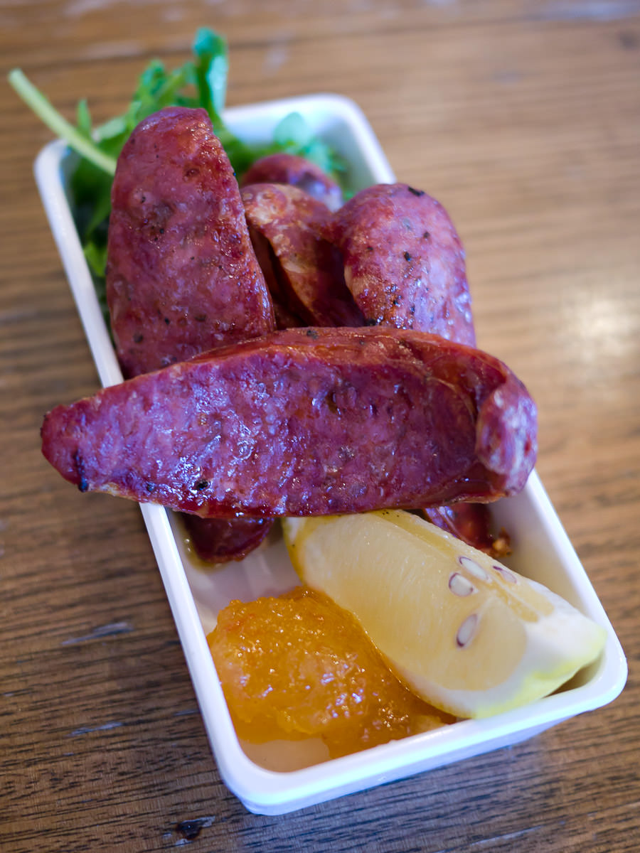 Grilled Italian sausage (AU$6)