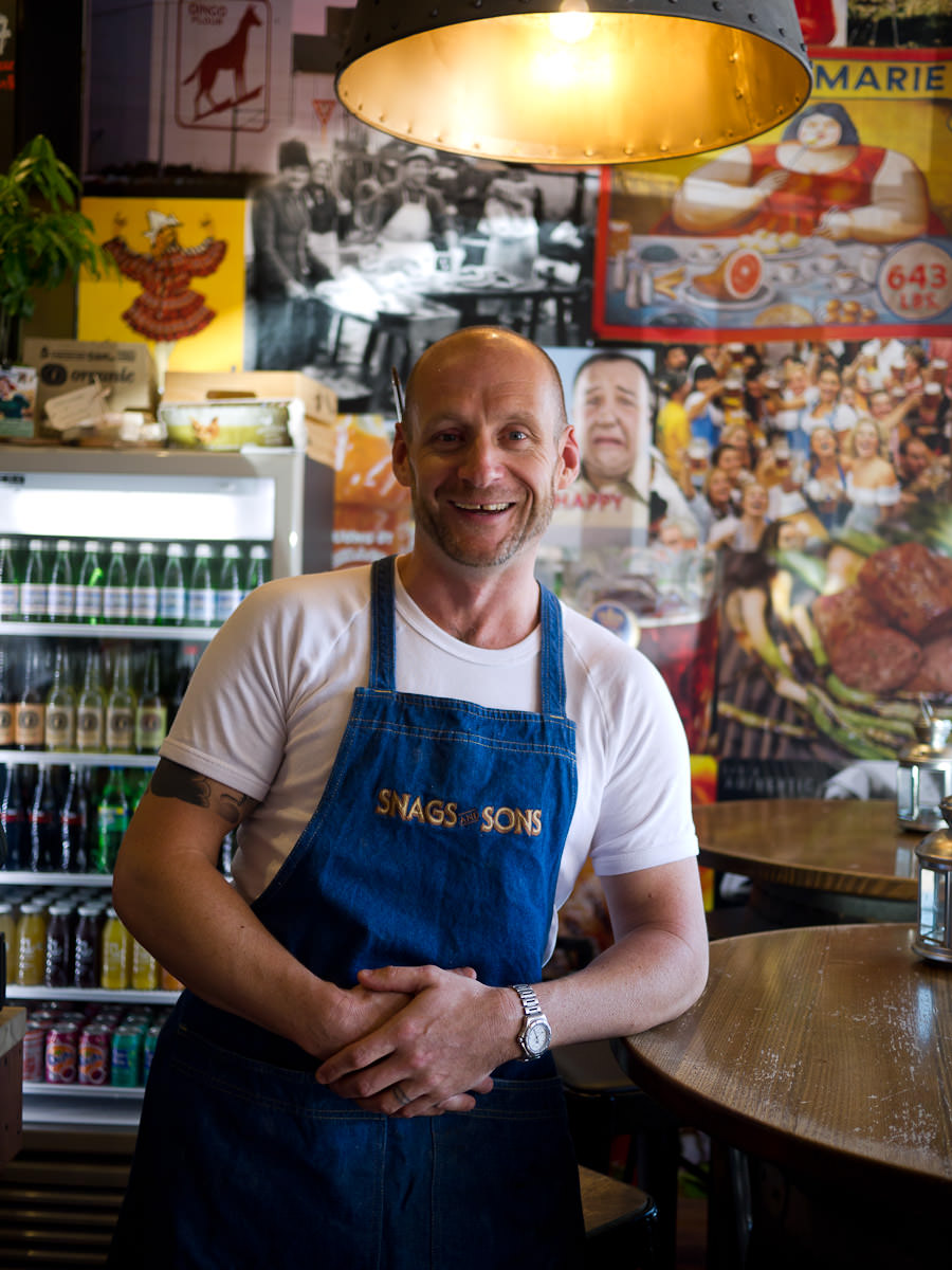 Chef-owner of Snags and Sons Justin Bell
