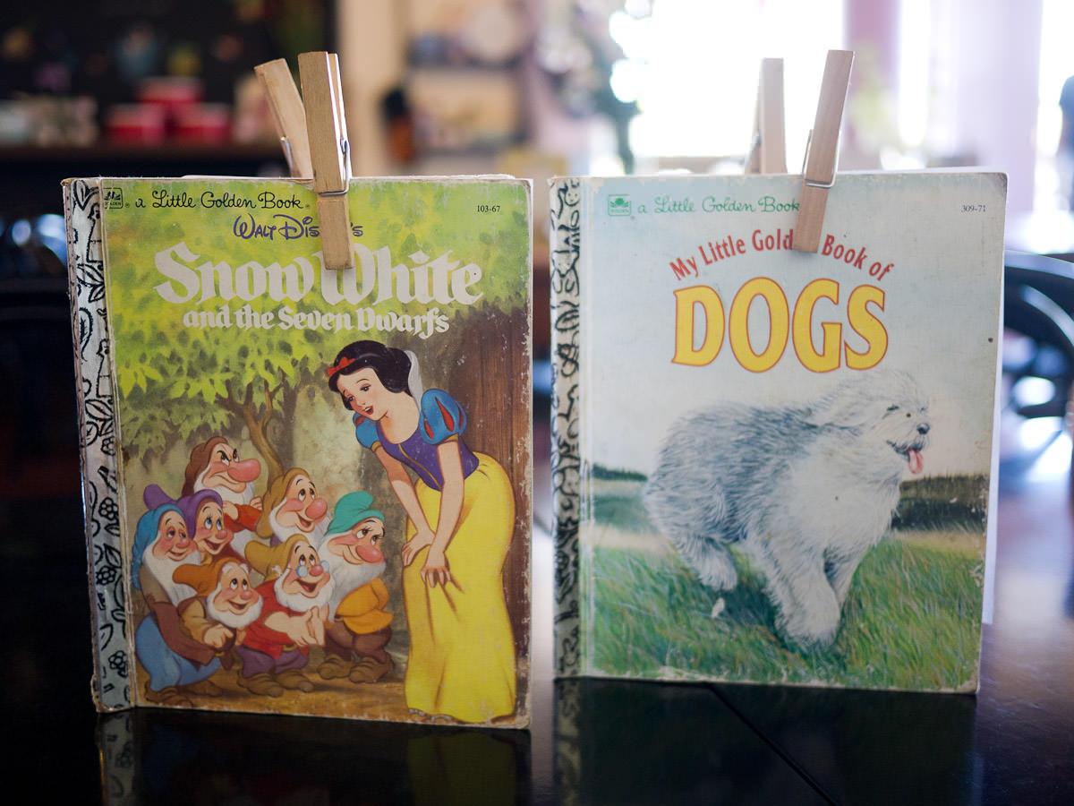 Mrs. S' menus are in Little Golden Books