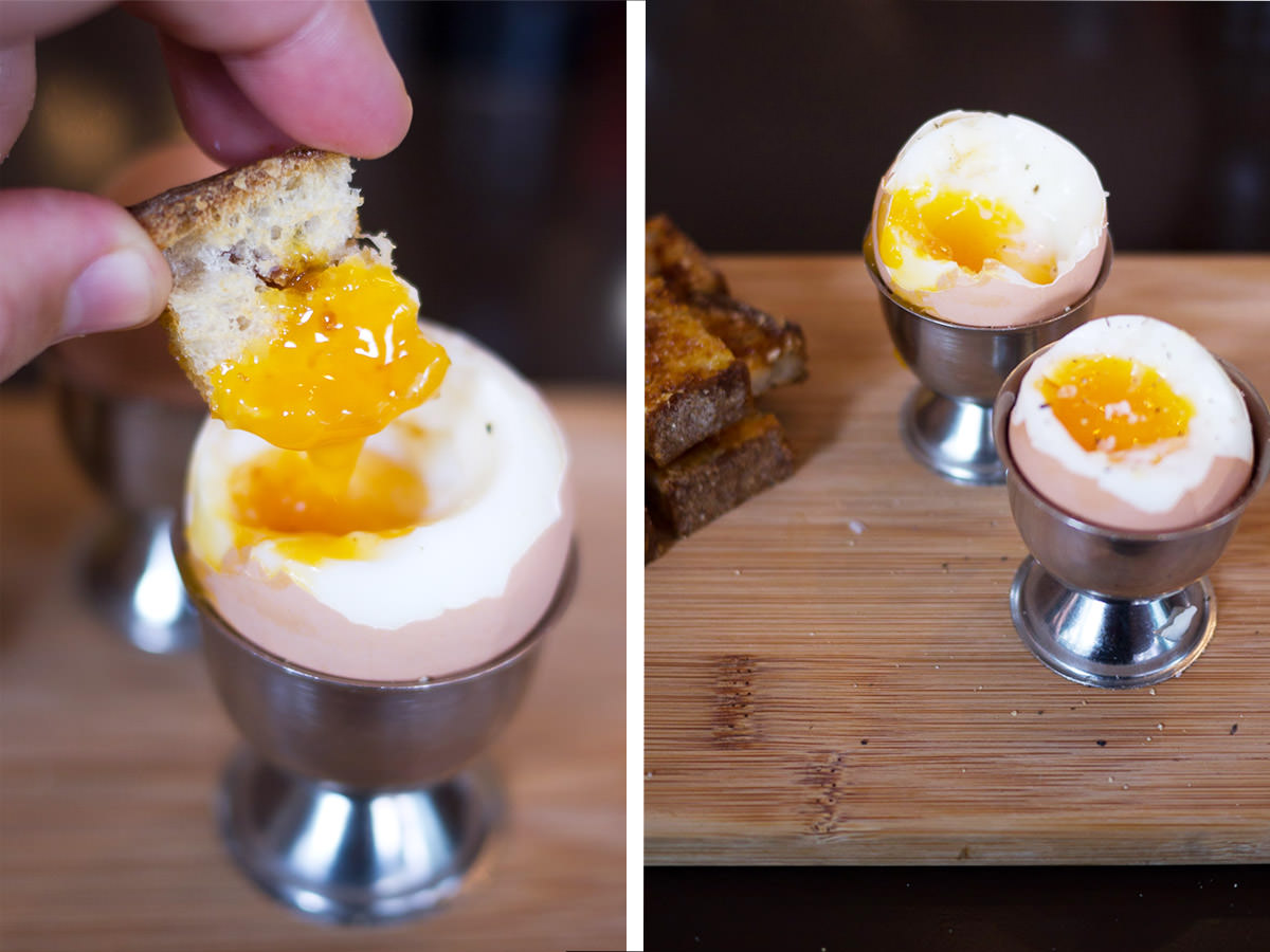 Vegemite toast soldiers and soft-boiled eggs