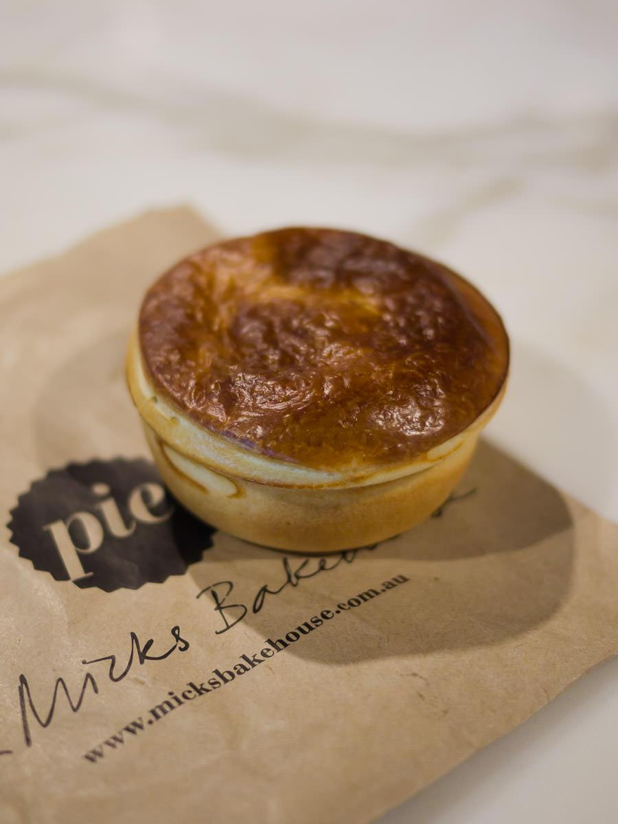 Beef pie, Mick's Bakery