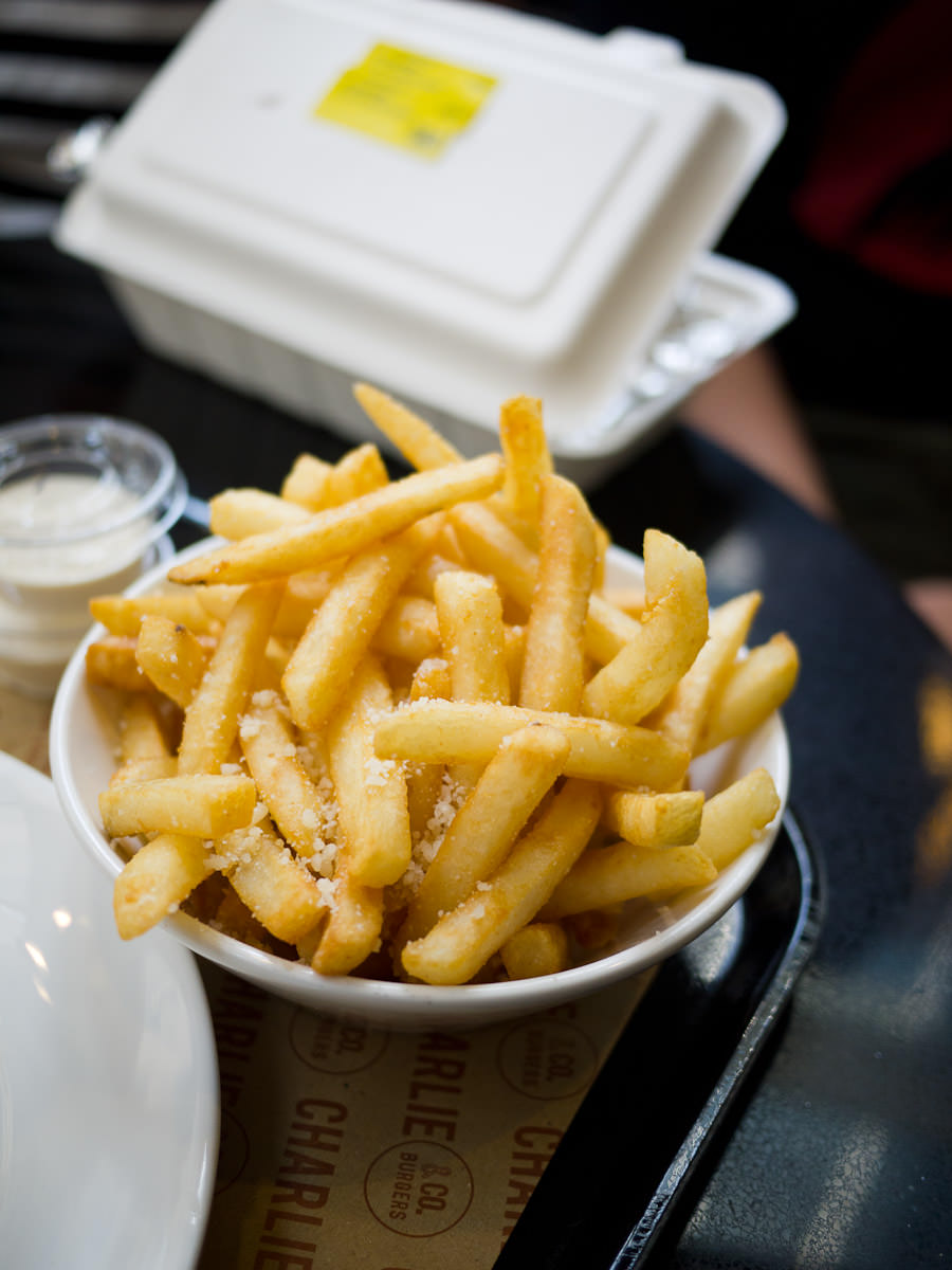 Truffle and parmesan fries, Charlie & Co