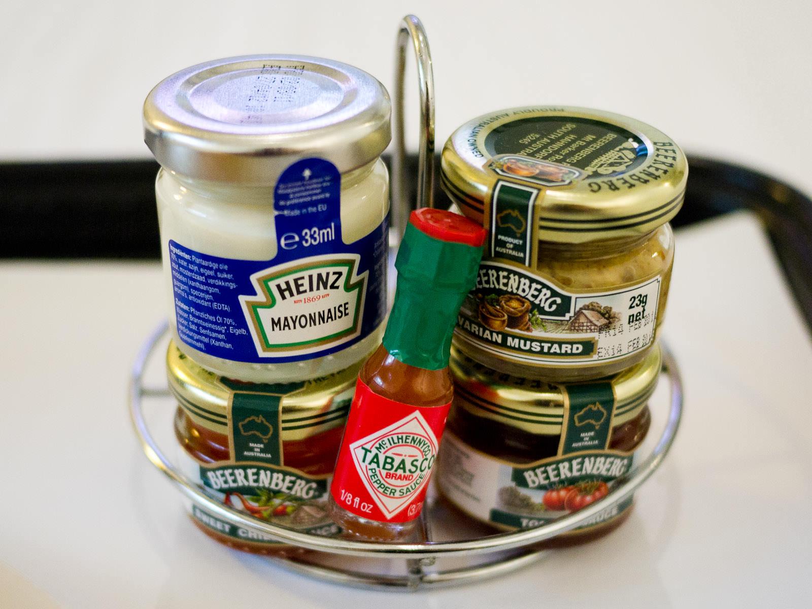 Room service condiments
