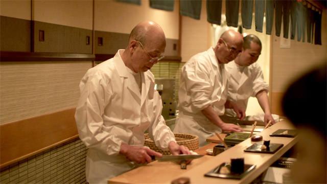 Chef Jiro at work