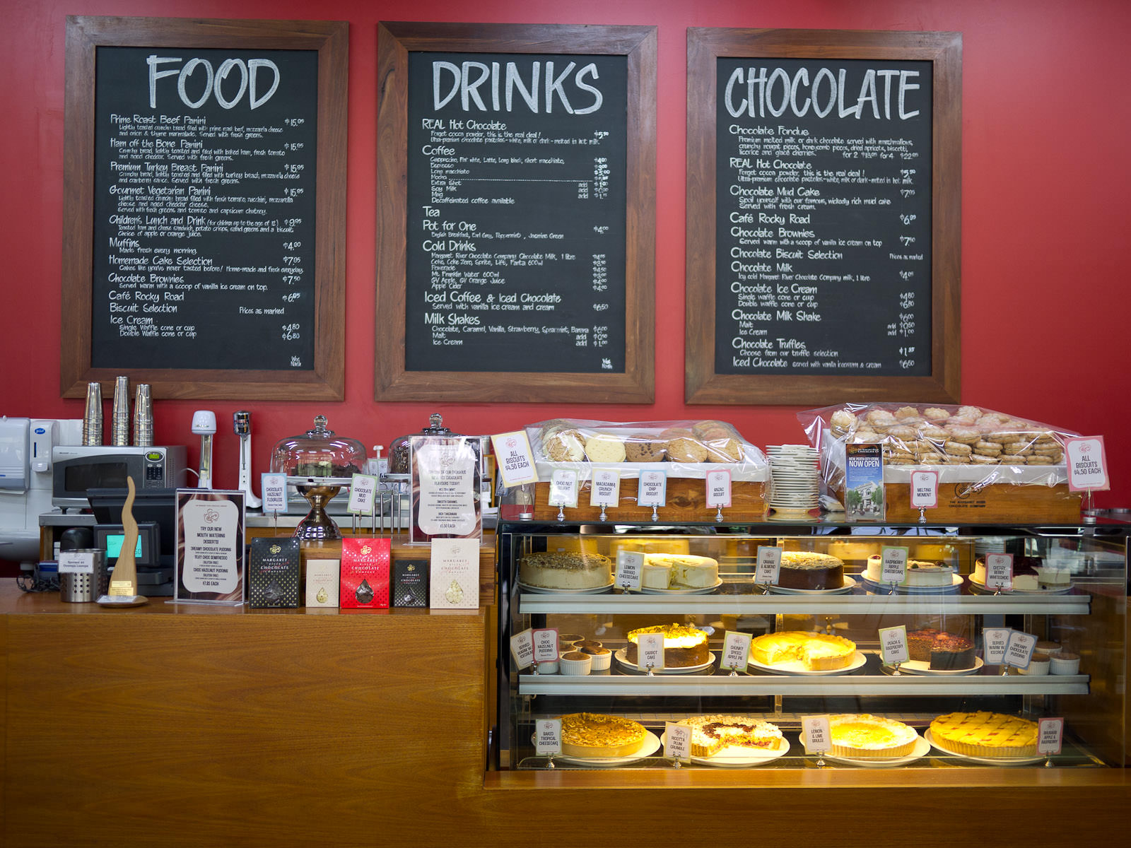 The cafe at The Margaret River Chocolate Company