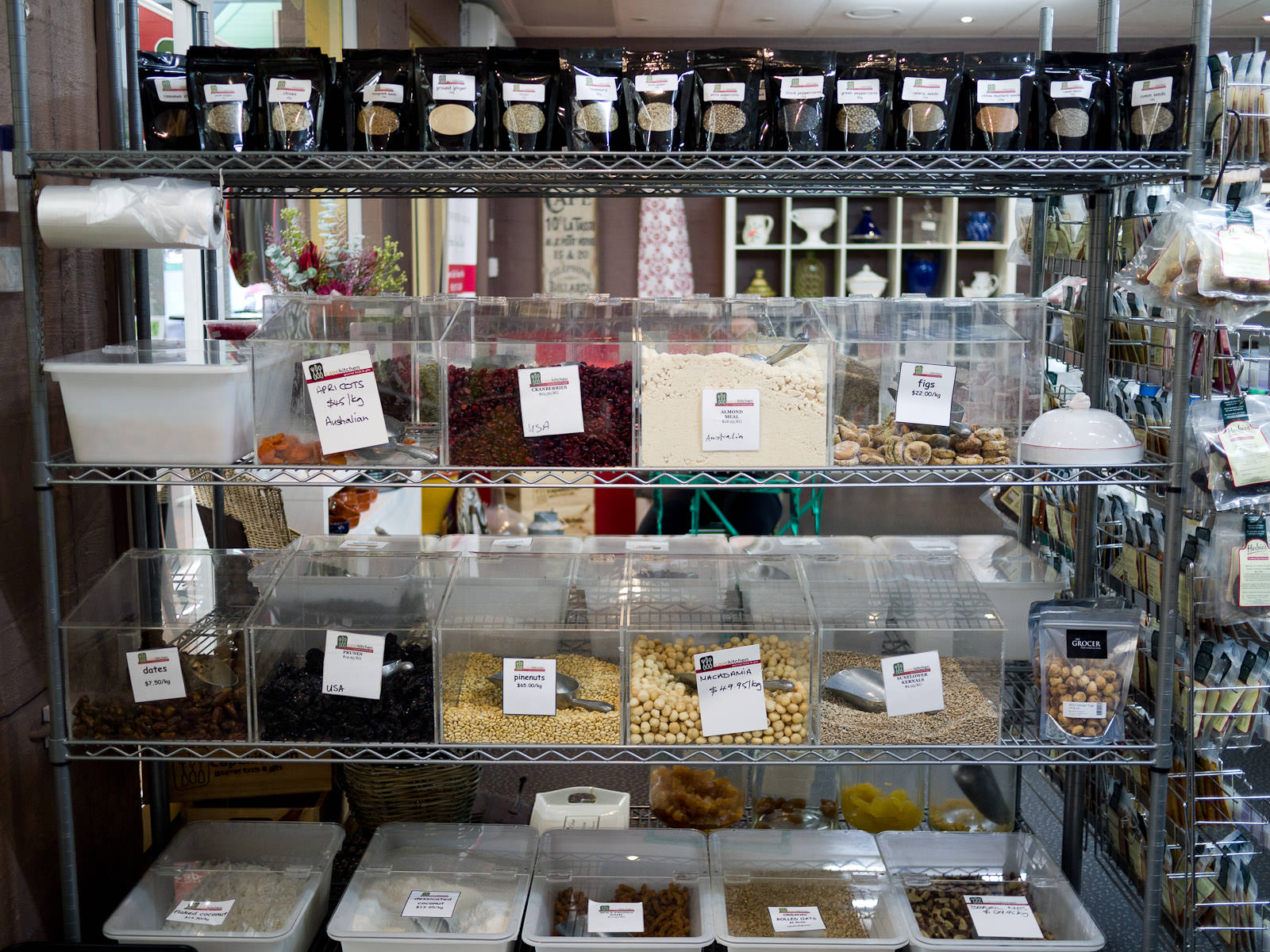 Dried spices, nuts and fruits