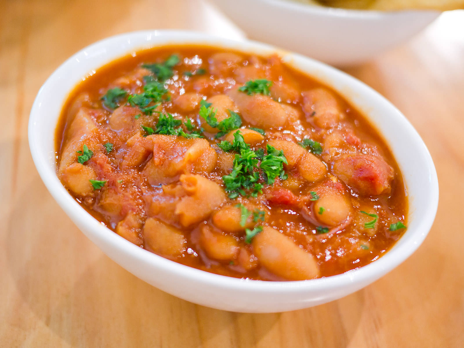 Baked beans with smoked ham hock (AU$5)