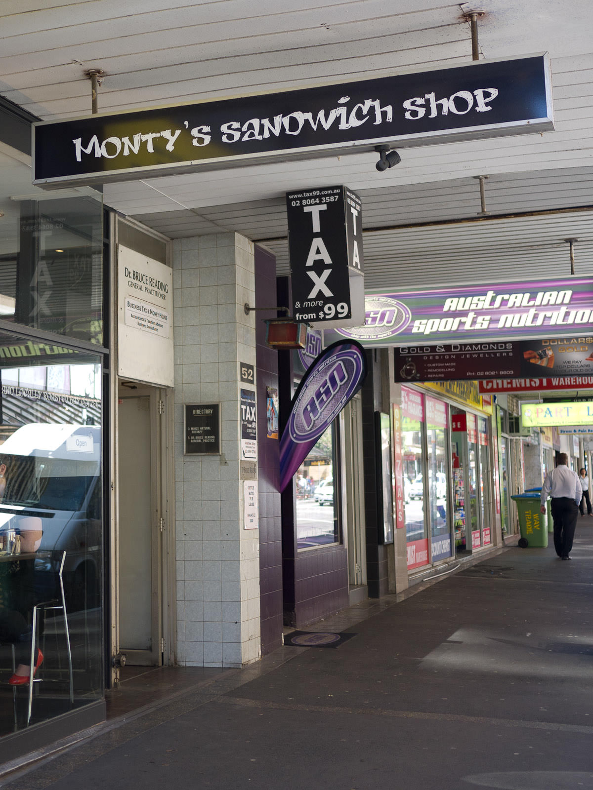 Monty's Sandwich Shop, Bondi Junction, Sydney