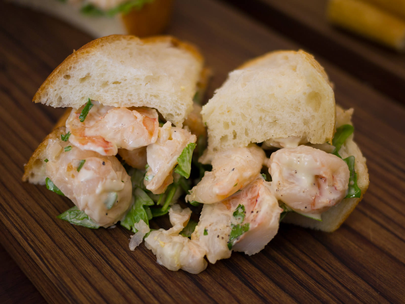 Tiger prawn salad with lime and coriander