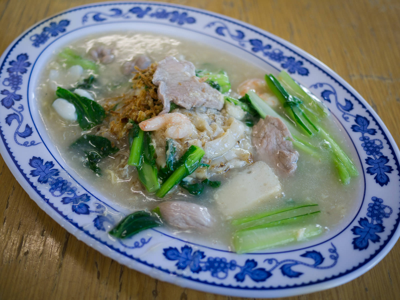 Hor fun with egg sauce