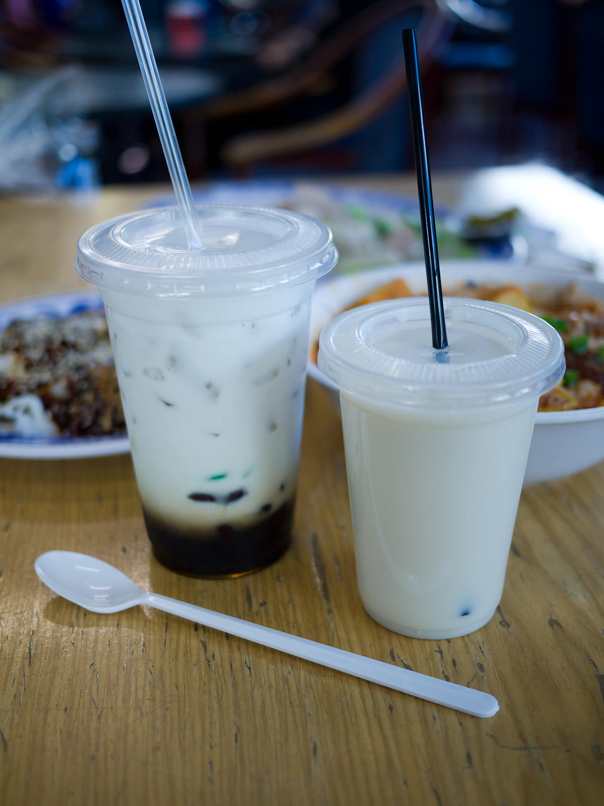 Cendol and soya bean milk