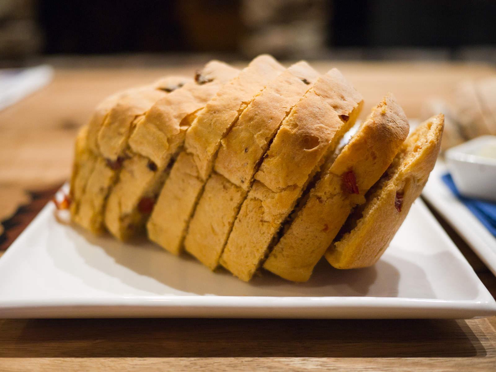 Chorizo with capsicum loaf