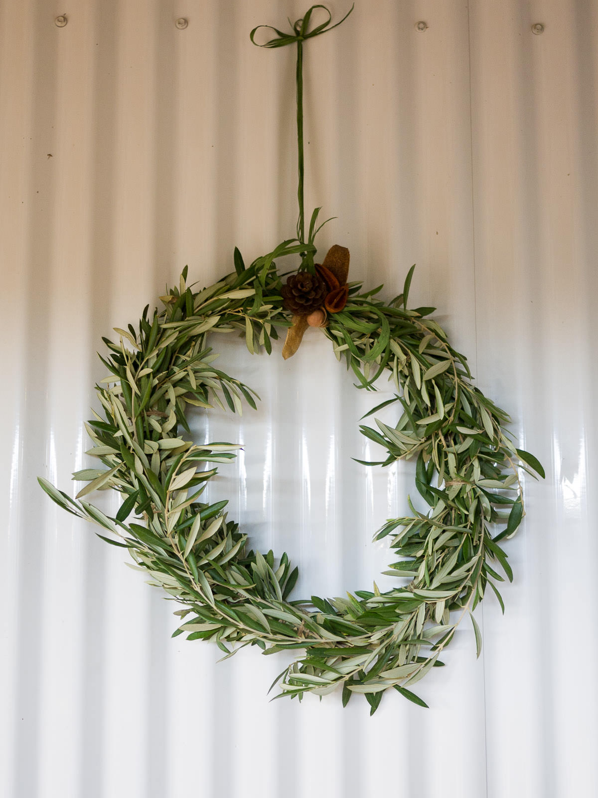 Olive wreath at the entrance of the Vasse Virgin Olive Oil Soap Factory