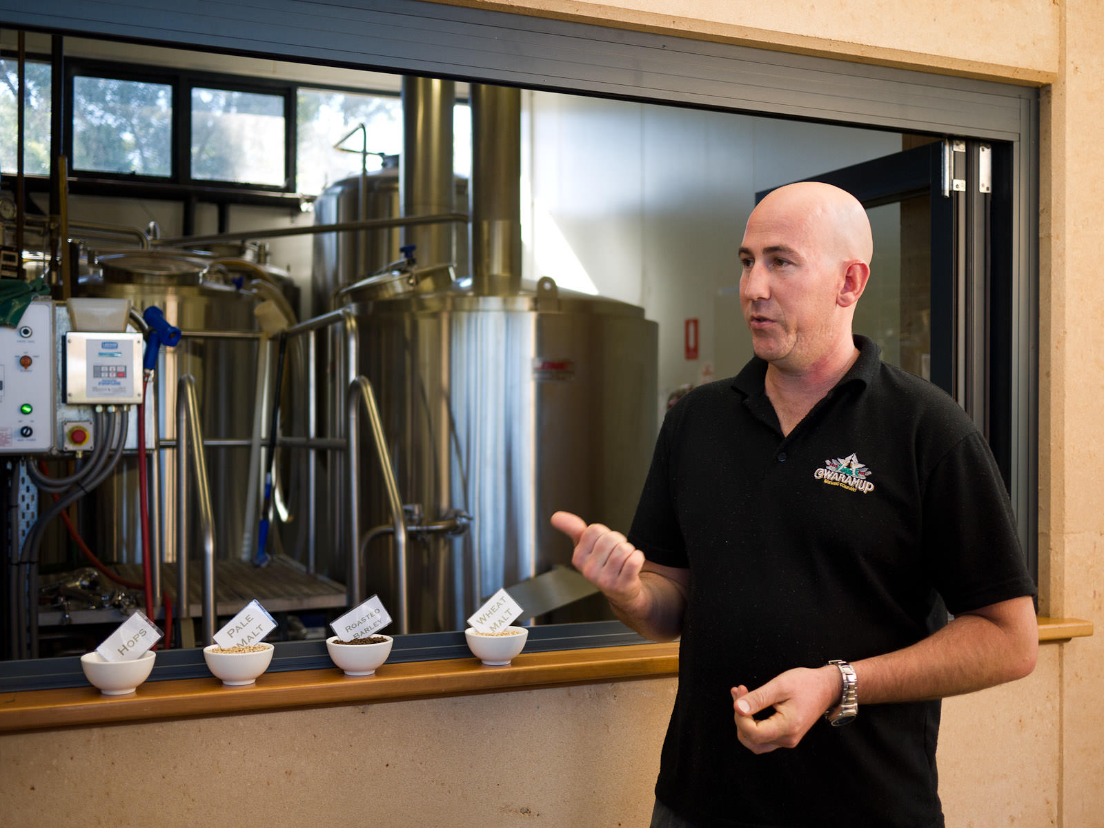 Bar manager Ross talks about the brewing process