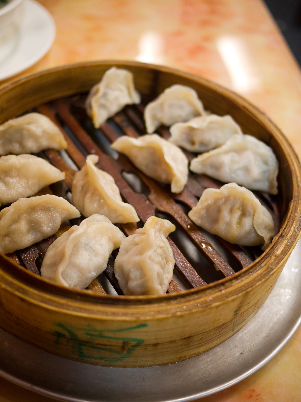 Pork and Chinese cabbage steamed dumplings (AU$11)