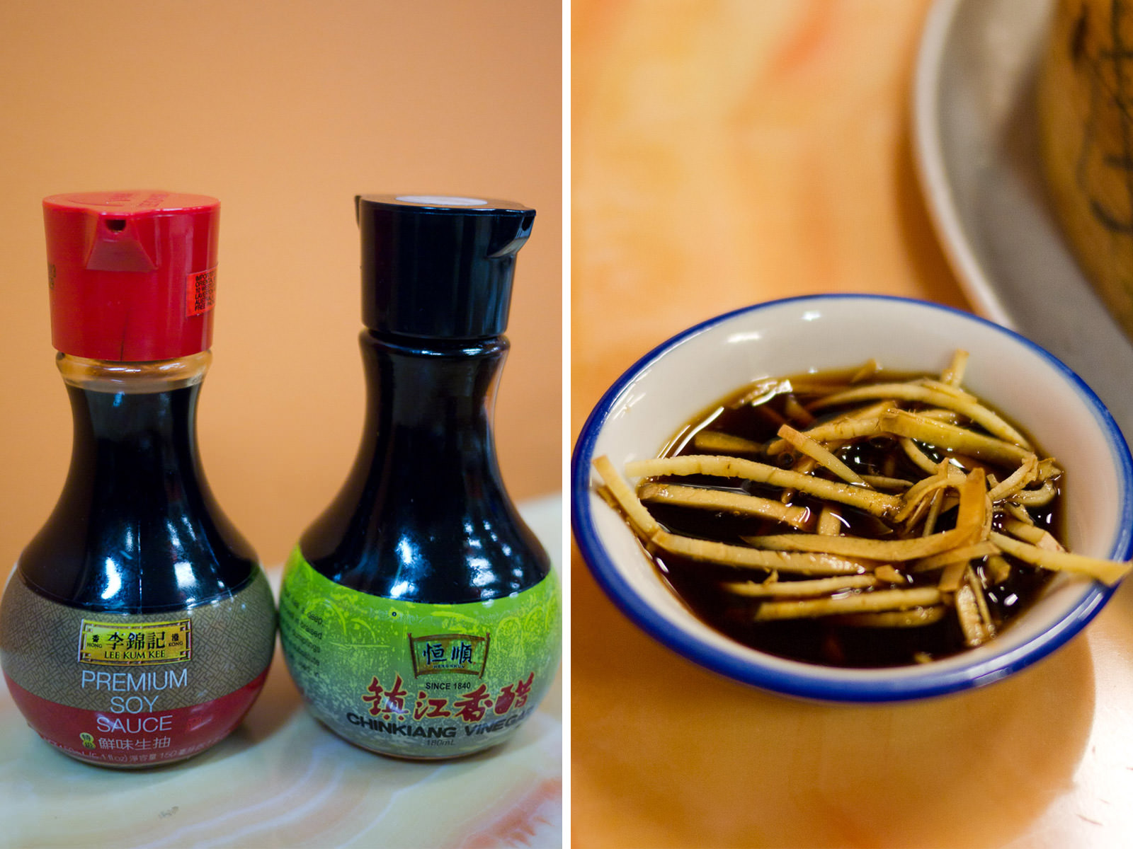 Soy sauce, vinegar and ginger