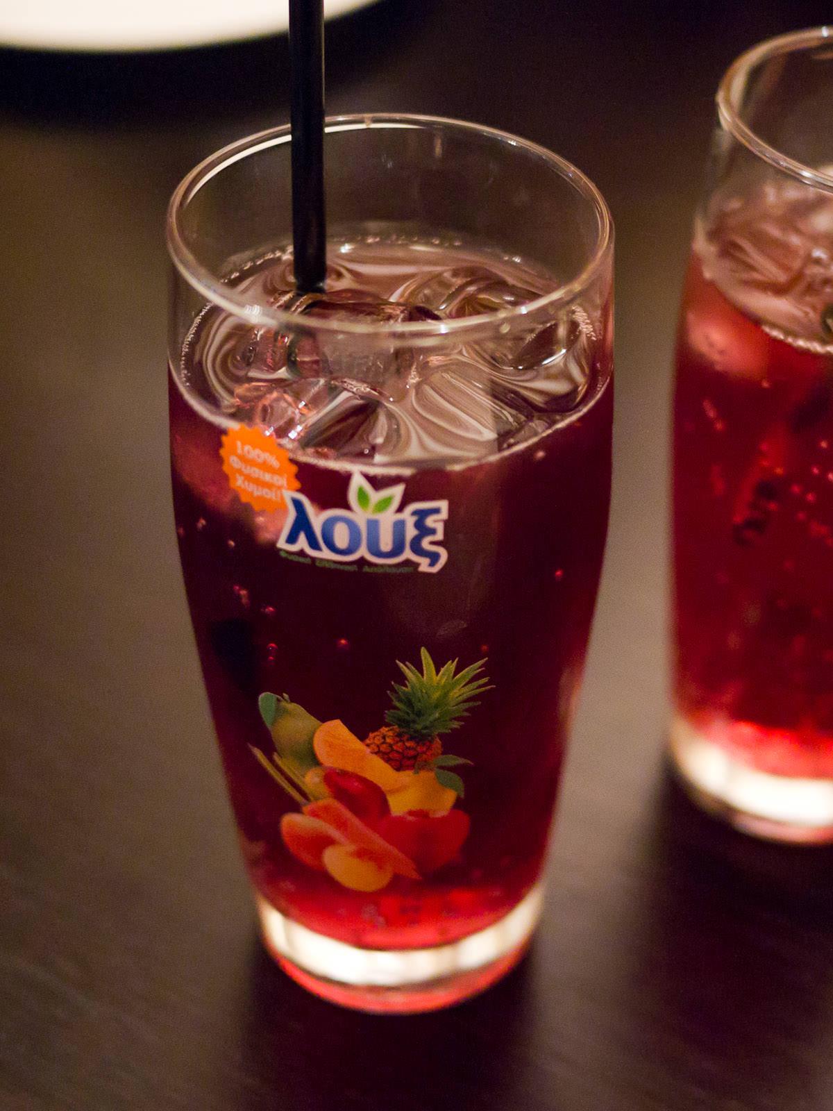 Greek sparkling juice - sour cherry flavour (AU$6)