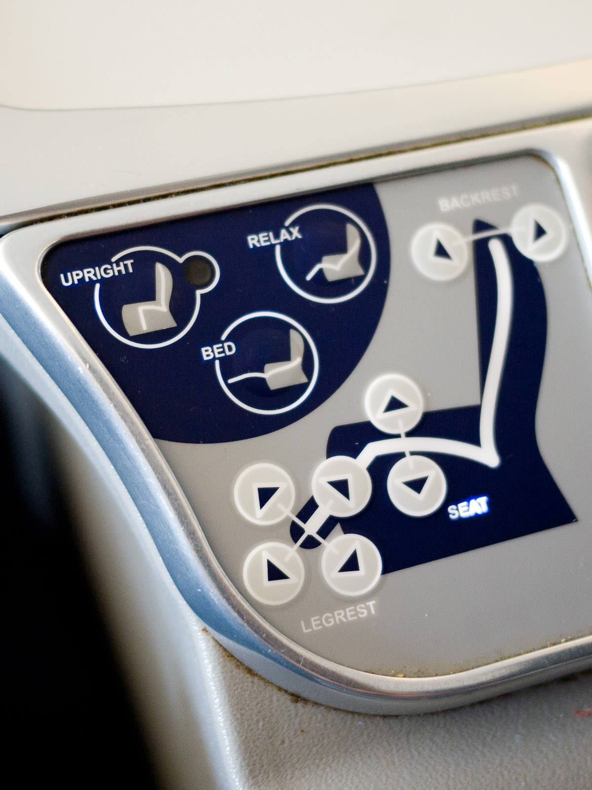 Adjustable seat controls