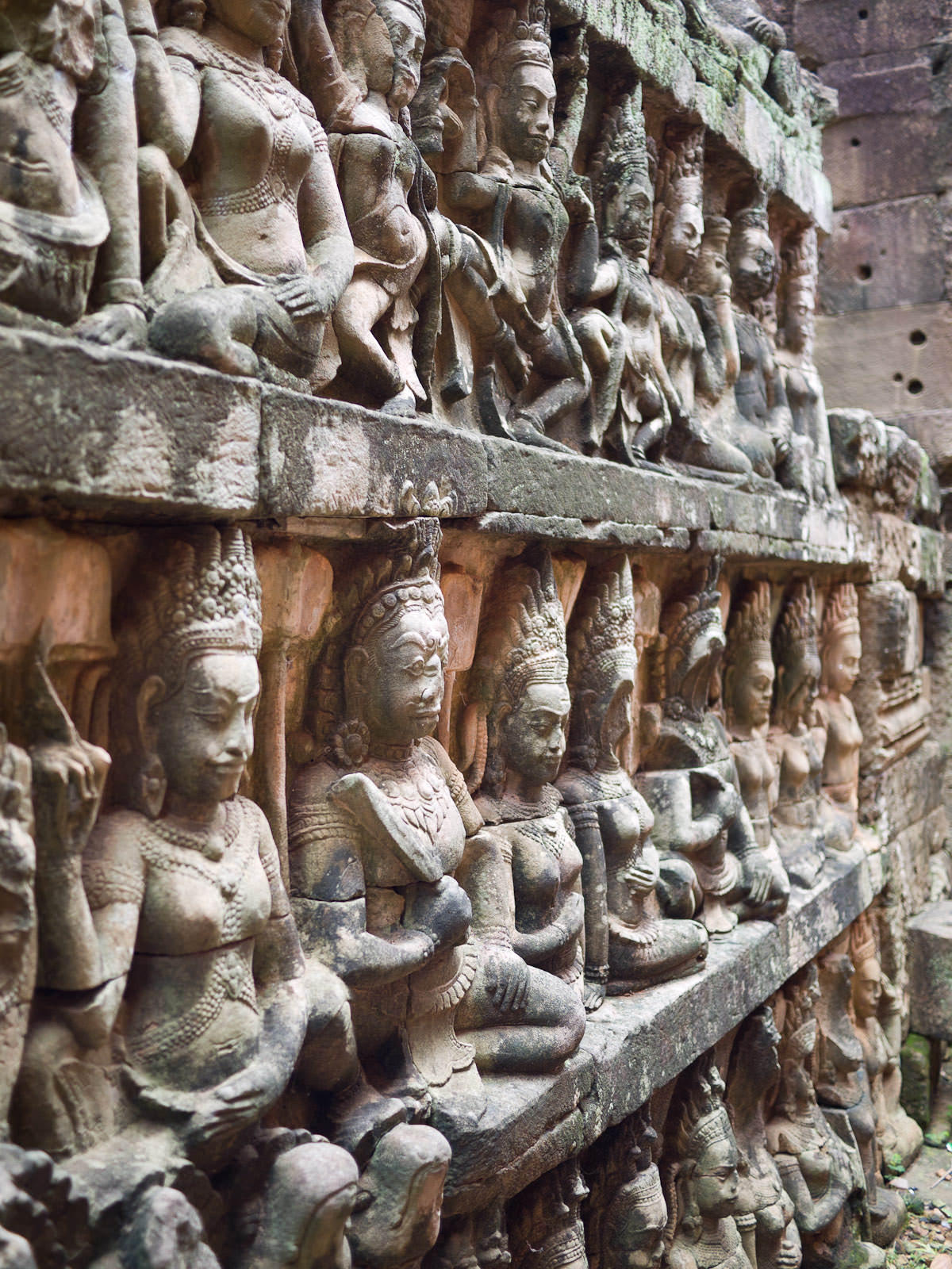 Carvings along the Terrace of the Leper King