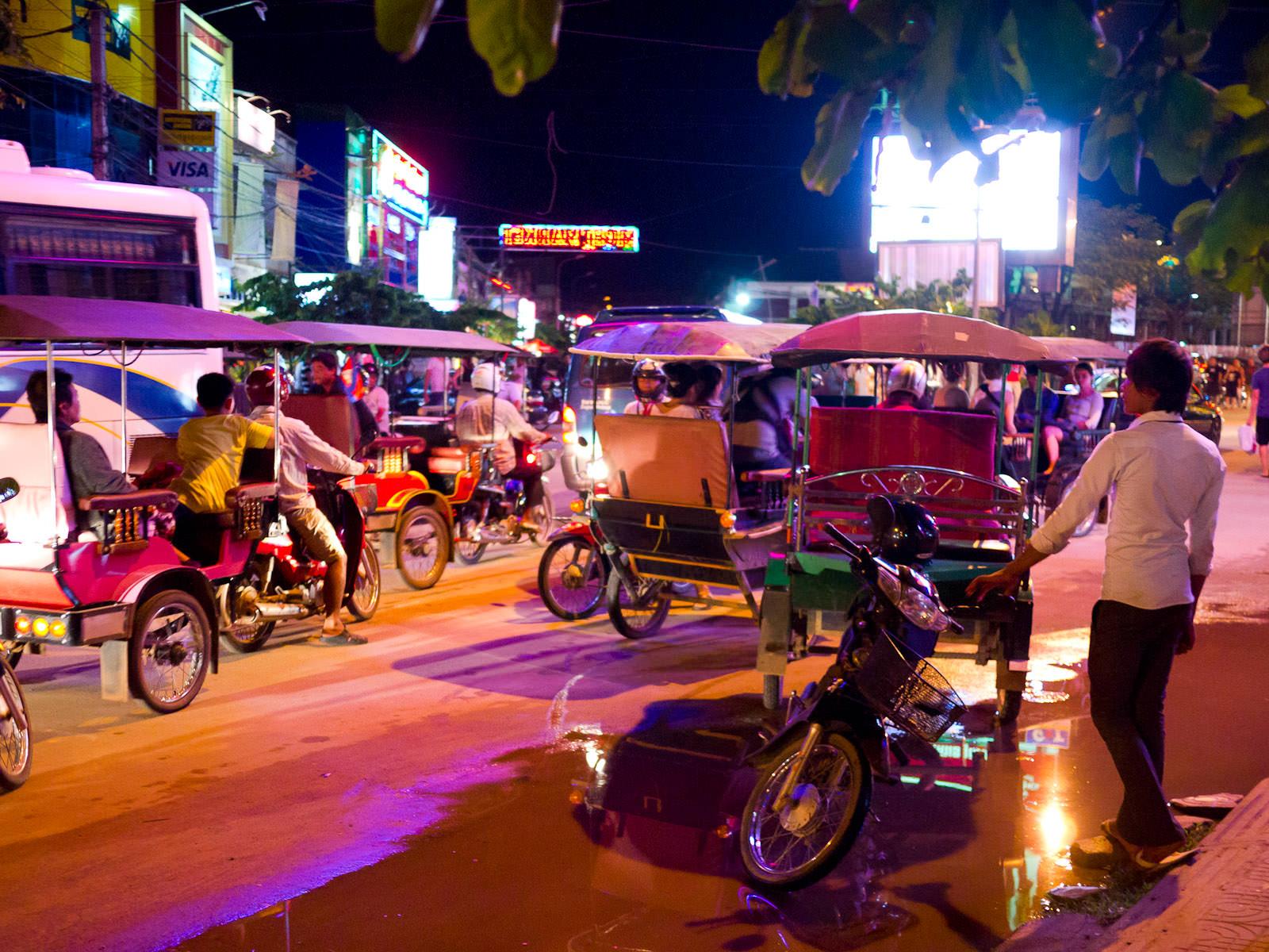 Walking to the night market