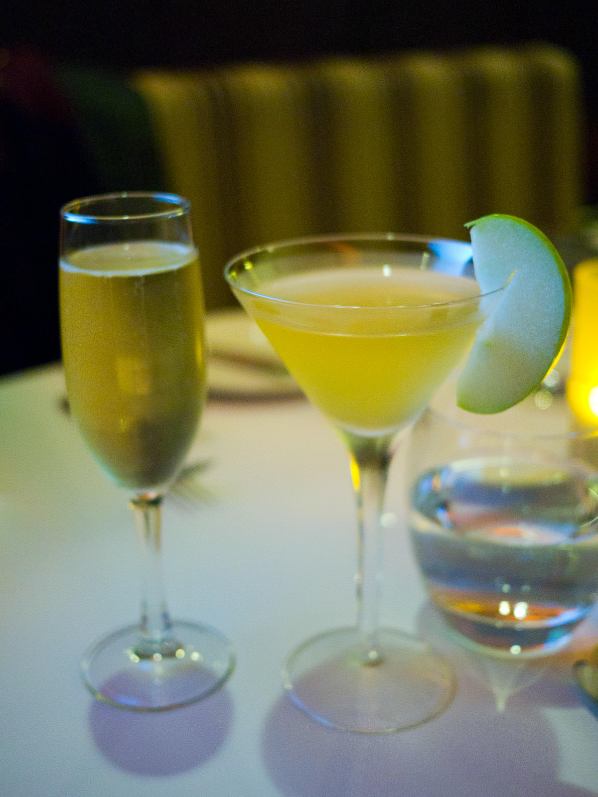A glass of bubbly....and a virgin appletini