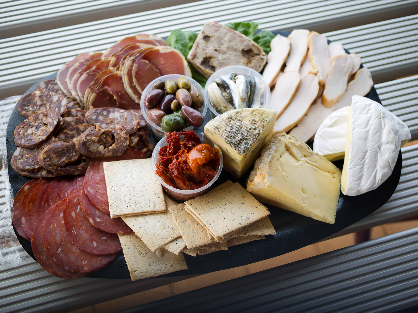 Platter of Margaret River goodies, by Blue Ginger