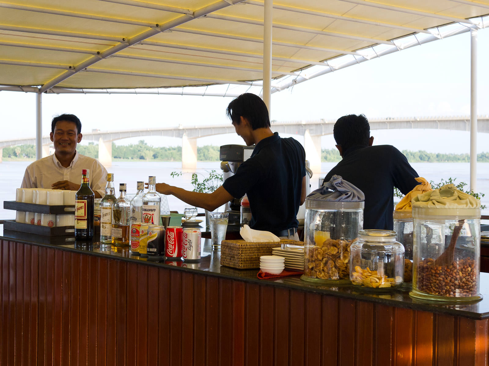 Bar and crew, RV Mekong Pandaw