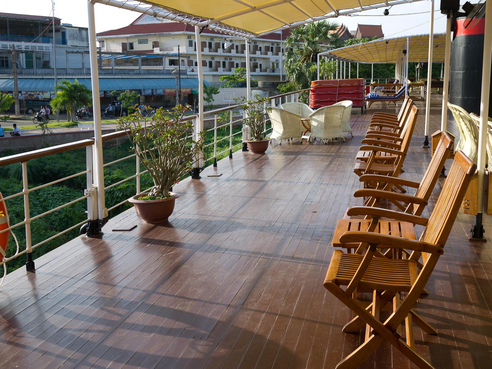 Sun deck, RV Mekong Pandaw