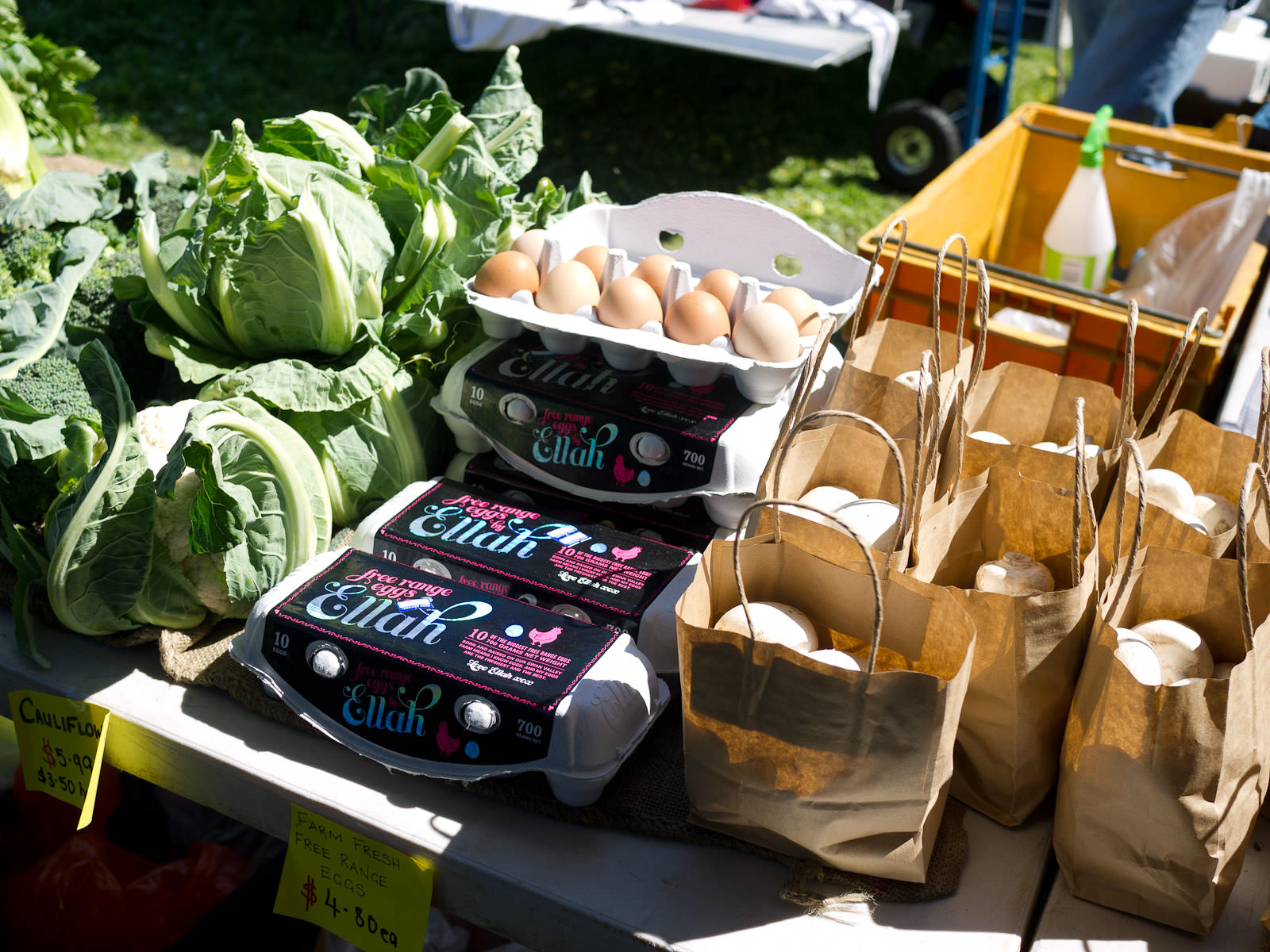 Locally grown vegetables and Eggs by Ellah