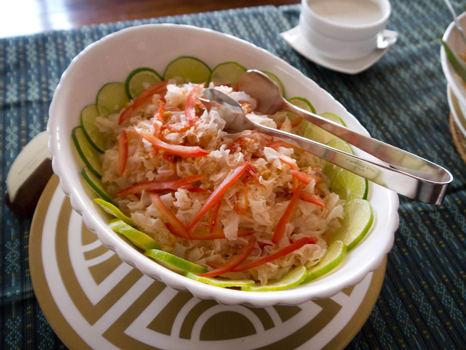Snow mushroom salad