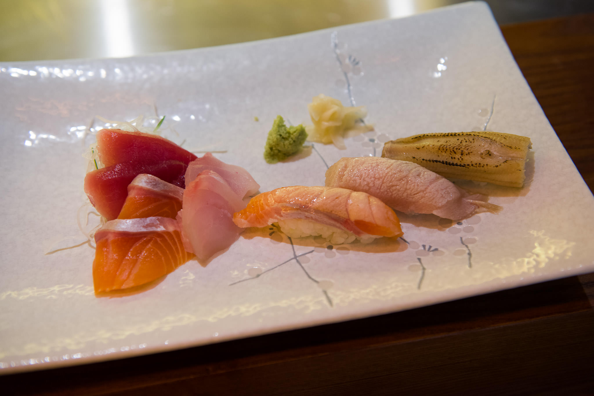Sashimi and sushi course